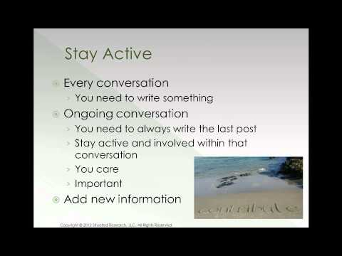 Social Media 101: Building Relationships, Online Groups, and Brands