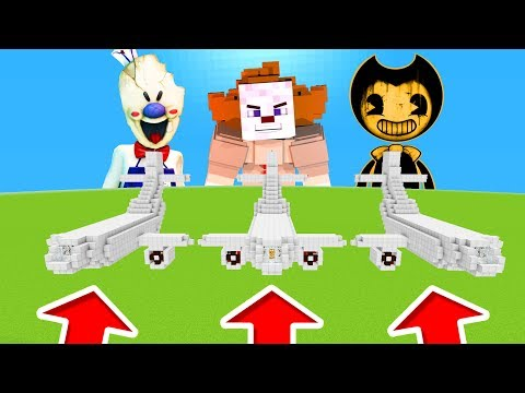 Minecraft PE : DO NOT CHOOSE THE WRONG PLANE! (Ice Scream, Pennywise & Bendy)