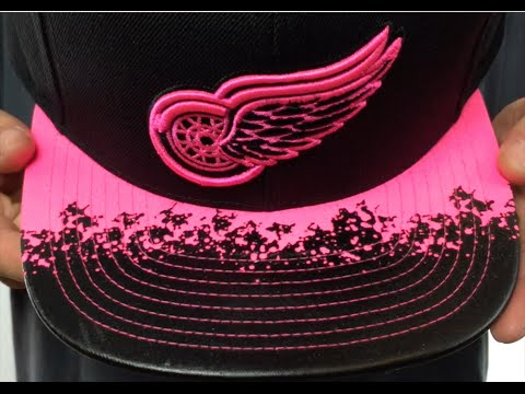 Red Wings  NEON-LAVA SNAPBACK  Black-Pink Hat by Mitchell and Ness ... 412adcb31