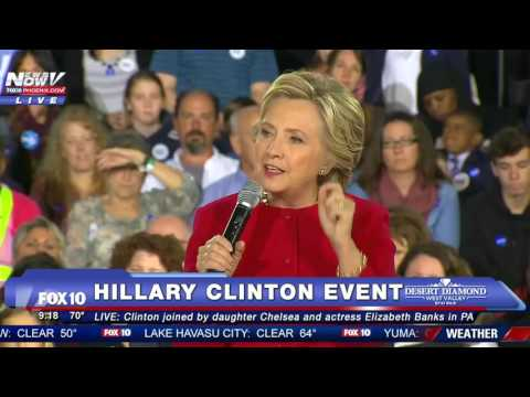 FNN: Hillary and Chelsea Clinton with Elizabeth Banks in Haverford, PA - FULL DISCUSSION