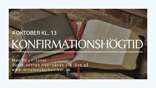 20201004 Gudstjänst i Missionskyrkan i Bor kl. 13