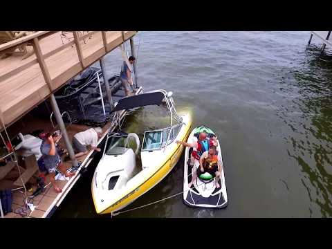 Sunken Boat at Cedar Creek Lake