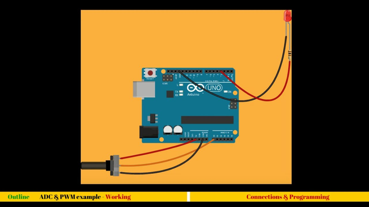 Interfacing potentiometer with arduino adc youtube