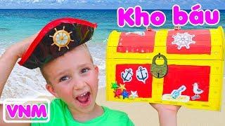 Trẻ em tìm thấy đồ chơi cướp biển đồ chơi video cho trẻ em từ Vlad và Nikita