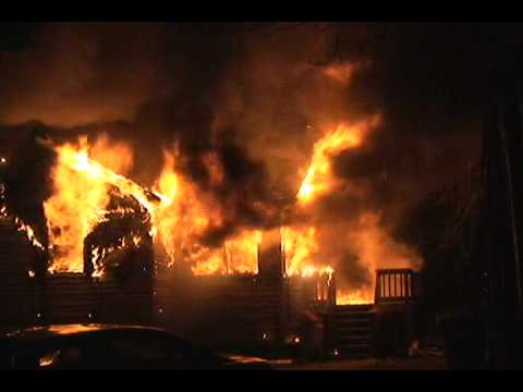 Incredible Fire Progression At A Fully Involved House Fire In Lake Station