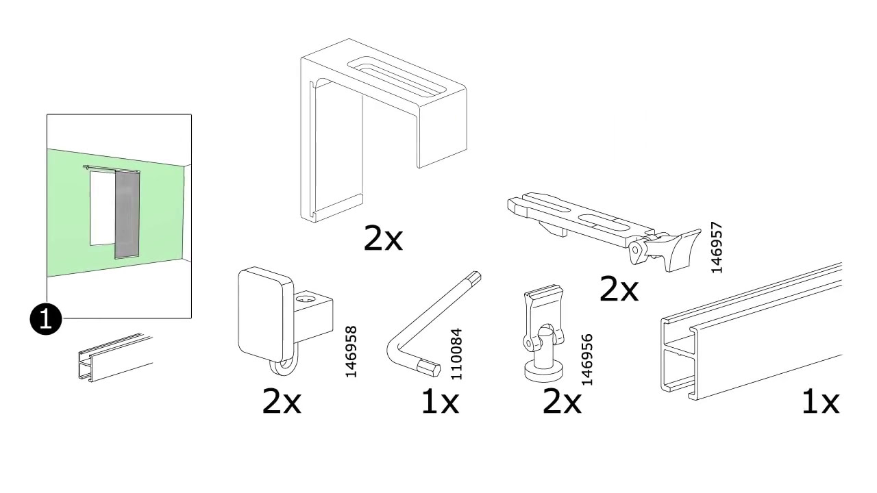 Comment Installer Panneau Japonais comment monter vidga systeme de rail simple