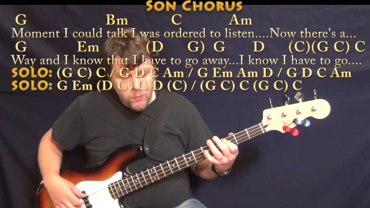 Father And Son Cat Stevens Bass Guitar Cover Lesson With Chords