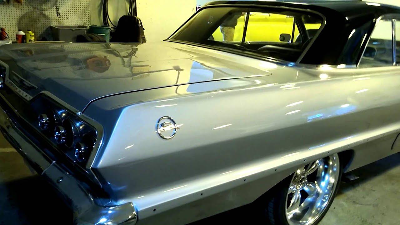 1963 Chevy Impala Corvette Silver Black Youtube