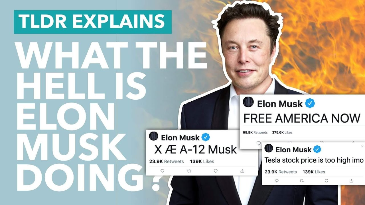 What The Hell is Elon Musk Doing: Coronavirus, X Æ A-12 & Tesla's Value - TLDR News
