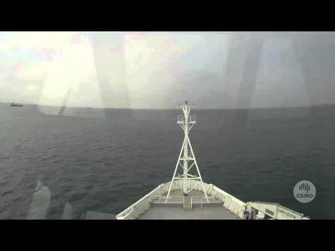 RV Investigator departing Singapore for Hobart