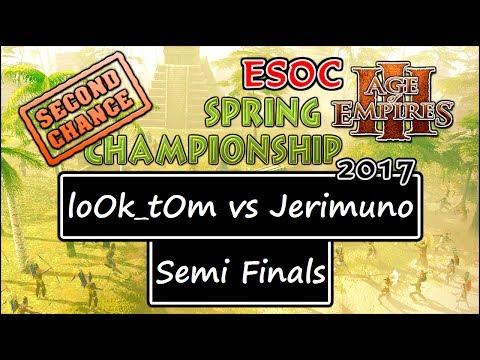 [AoE3] ESOC Second Chance Tournament: SEMI-FINALS — loOk_tOm vs Jerimuno