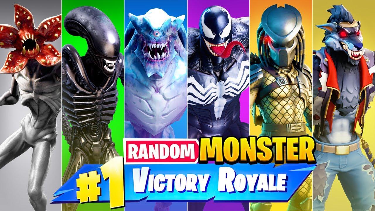 The *RANDOM* MONSTER Challenge in Fortnite!