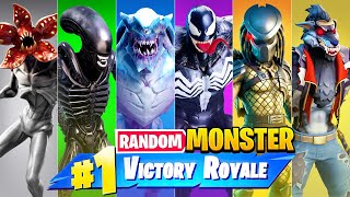 The *RANDOM* MONSTER Challenge in Fortnite!