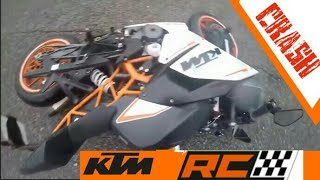 KTM RC Crash compilation | RC 200/390 accidents 2017