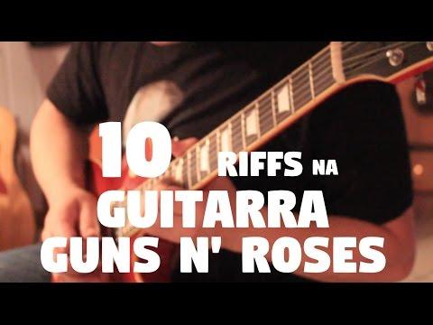 """10 Riffs na Guitarra Elétrica """"Guns N"""