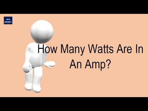 How Many Watts Are In An Amp?