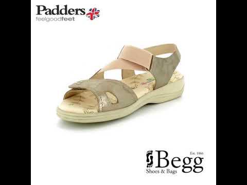 74d849232 Padders Cruise 3e-4e 769-64 Metallic sandals - YouTube