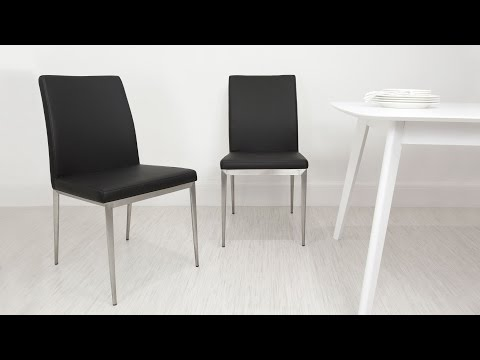 Contemporary Brushed Metal Dining Chairs