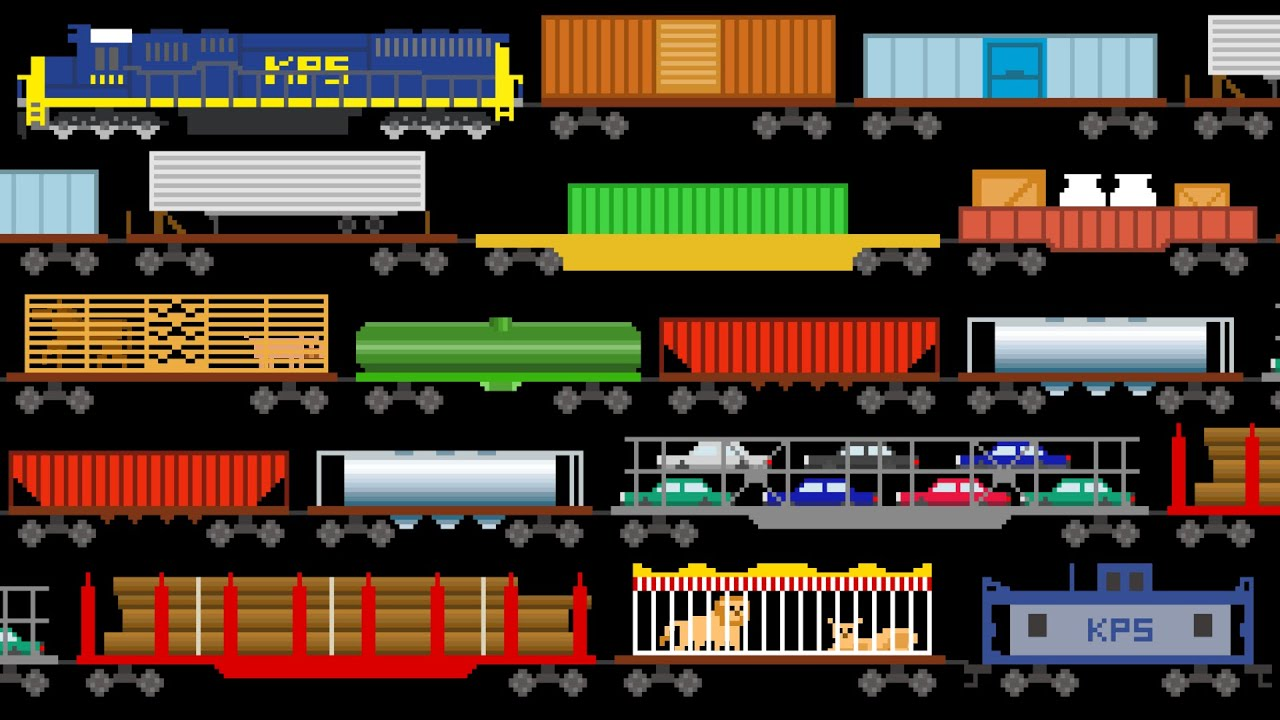 Freight Train Cars Trains Railway Vehicles The Kids Picture