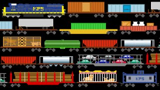 Freight Train Cars - Trains - Railway Vehicles - The Kids
