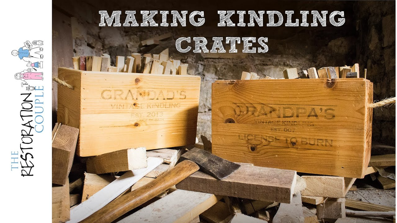 Our Homemade Christmas Grandad S Kindling Box Youtube