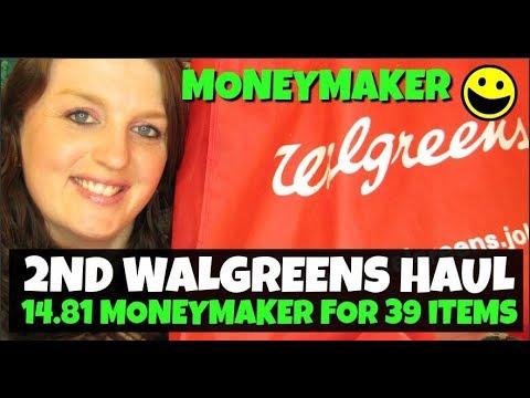 2nd Walgreens Haul 39 Items $14.81 MONEYMAKER