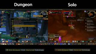 Repeat youtube video Dungeon Leveling vs Solo Quest Leveling World of Warcraft