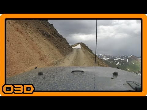 California Pass, San Juan Mountain Range, Colorado, Alpine Loop, June 2016, Jeep Wrangler