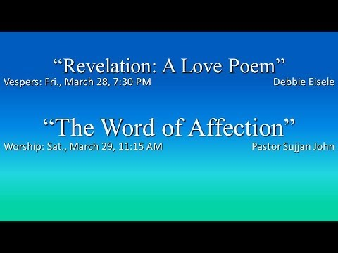 "Vesper Service - ""Revelation: A Love Poem"""