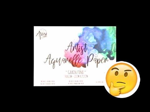 Test Nouveau Papier Aquarelle Action Youtube