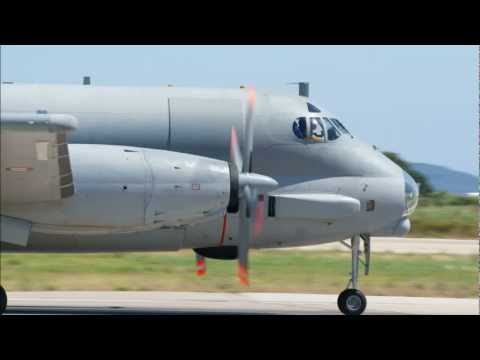 Take off Breguet Atlantique II French Navy Toulon Hyères Airport TLN/LFTH
