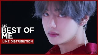 Video BEST OF ME - BTS (Line Distribution) download MP3, 3GP, MP4, WEBM, AVI, FLV Juli 2018
