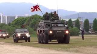 2015 大津駐屯地創立56周年記念行事  車両行進(滋賀県)