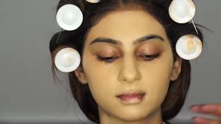 ASIAN ARABIC BRIDAL MAKEUP LOOK & outfit with headpiece + Wedding Vlog