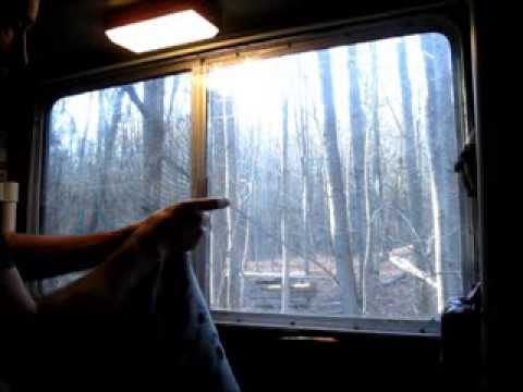 Installing RV Curtains And Frost King Window Insulation