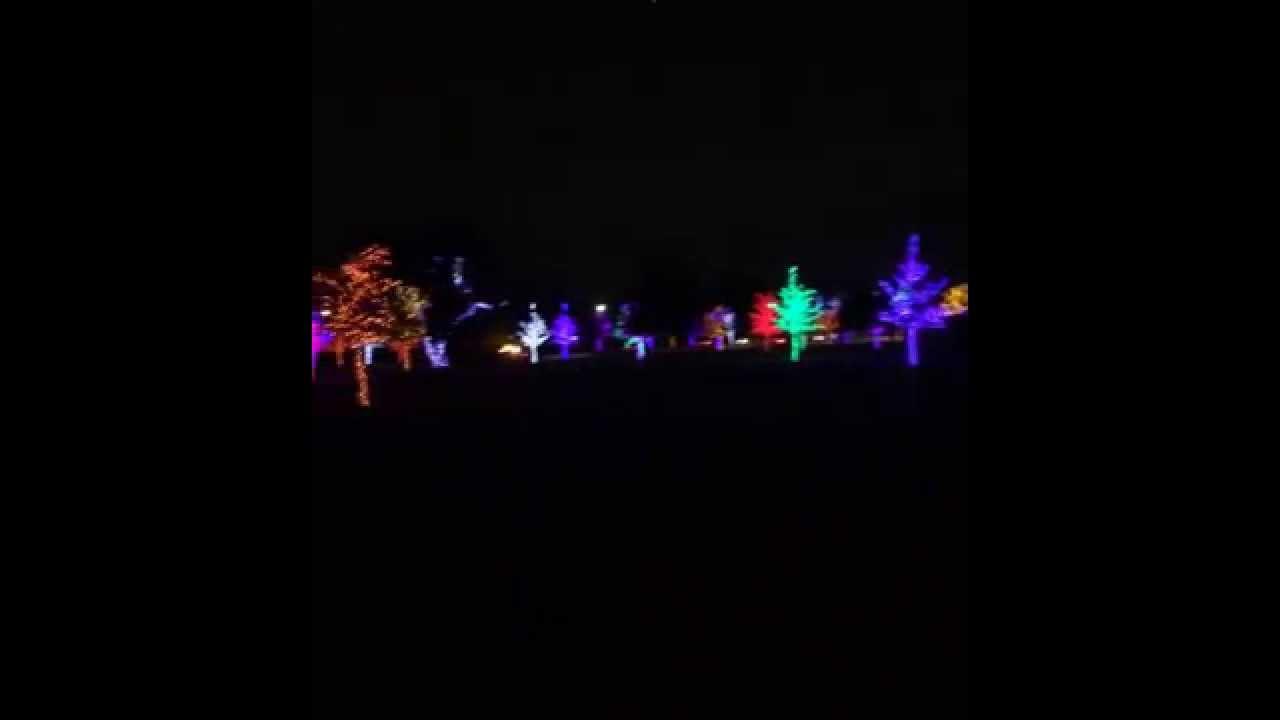 Christmas Lights Vitruvian Park Addison Texas 2014 Youtube