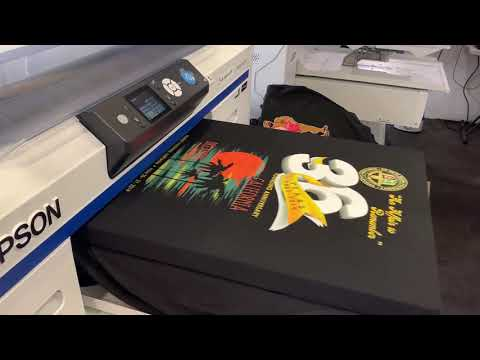 Ink Space Compatible Ink | Epson F2000 Full Color DTG Printing on Black T-shirt