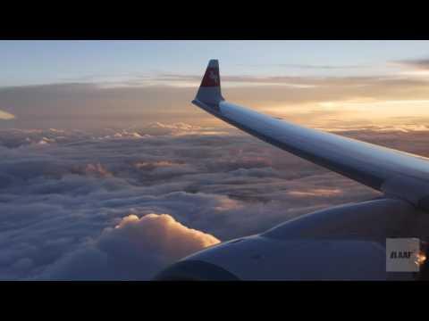 """Premier Bombardier CS300 SWISS [HB-JCA] livrée """"Suisse romande"""" [vol sur les Alpes et Nice] 4K"""