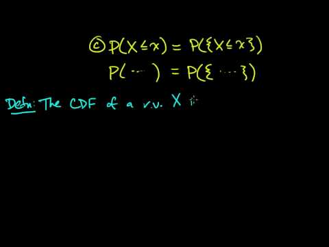 (PP 3.1) Random Variables - Definition and CDF
