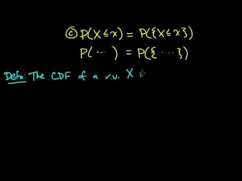 (PP 3.1) Random Variables - Definition and CDF