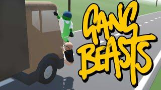 Gang Beasts - СЛОМАЛИ ГРУЗОВИКИ! (Брейн и Даша)
