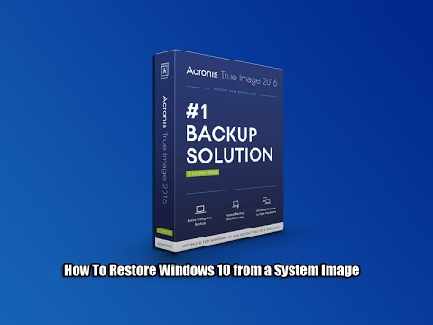 How To Restore Windows 10 from a System Image