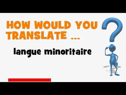 FRENCH TRANSLATION QUIZ = langue minoritaire
