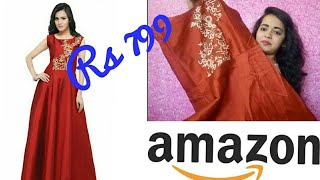 Amazon shopping haul and review || amazon maroon gown rs 799