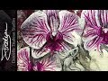 Orchids - Calm Within Chaos with Silver Leaf