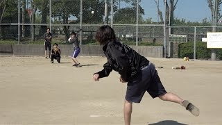 東海オンエアーズの野球練習はきびしい