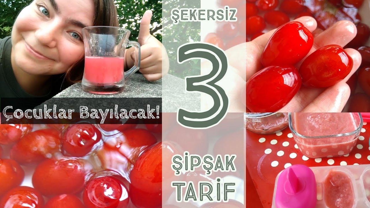 Şekersiz 3 Şipşak Kızılcık Tarifi | Şerbet | Dondurma | Marmelat