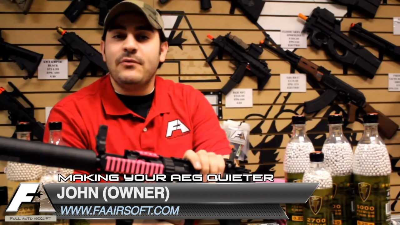 Making an AEG really quiet - Airsoft Sniper Forum