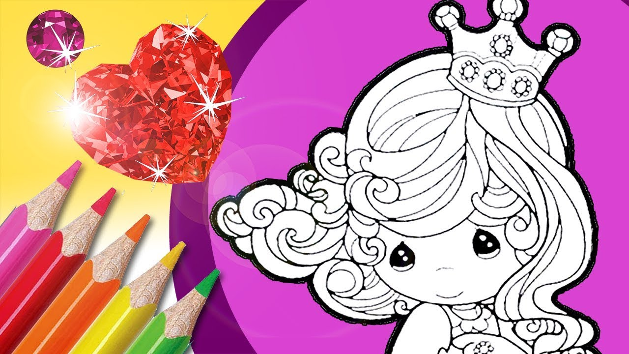 Angel Princess Coloring Pages Collage And Glitter Coloring Youtube