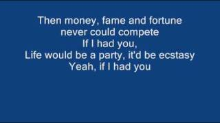 Repeat youtube video If I had you - Adam Lambert + Lyrics